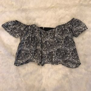 NWT off the shoulder crop top size small